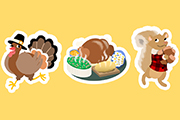 Thanksgiving Stickers- Turkey Time!